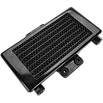 Acouto Upgrade 125ml Motorcycle Engine Oil Cooler Cooling Radiator for 125CC-250CC Engines Aluminum (Black)