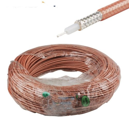 100 Feet RG400 M17/128-RG400 Double Copper Braid Shielded RF Coaxial Cable by Custom Cables Group LLC