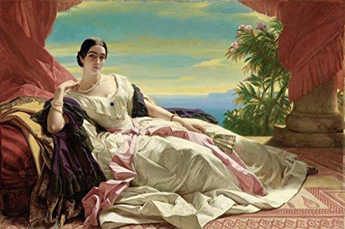 ArtParisienne Portrait of Leonilla Princess of Sayn-Wittgenstein-Sayn by Franz Xaver Winterhalter Wall Decal, 48