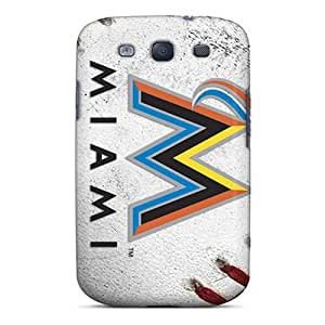 New Arrival Case Cover With GuQHpwA856XPSXp Design For Galaxy S3- Miami Marlins