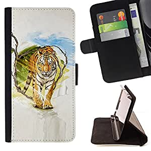 Jordan Colourful Shop - Tiger Painting Art For HTC Desire 820 - Leather Case Absorci???¡¯???€????€???????????&