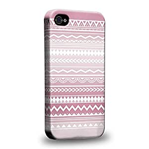Case88 Premium Designs Hand Drawn Aztec TREND MIX 0780 Protective Snap-on Hard Back Case Cover for Apple iPhone 4 4s