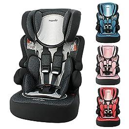 Child car seat Beline Grp 1/2/3 (9-36kg) with side protection – Nania Skyline black