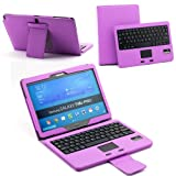 SUPERNIGHT Detachable Removable Touchpad Bluetooth Keyboard Protective PU Leather Case for Samsung Galaxy Note 10.1 2014 Edition P600 P601 Tablet.Color:Purple, Best Gadgets