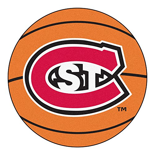NCAA St. Cloud State University Huskies Basketball Shaped Mat Area Rug ()