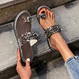 Women's Sandals Flat Clip Toe Lace Floral Cute Flip Flop Beach Slip On Roman Sandal Shoes