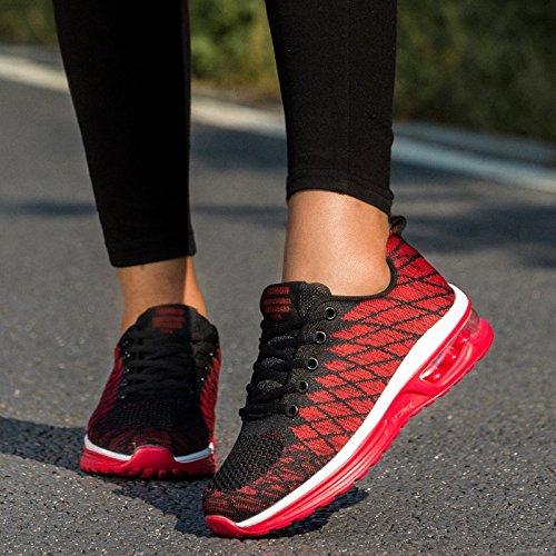 Donna da Running Uomo 35 Cuscino Sneakers Scarpe da Rosso02 Shoes Corsa d'Aria Fitness Scarpe Basket Basse Sportive Unisex Ragazzo Casual da Gym Scarpe 48 Ginnastica Scarpe Ragazza 56qwn5fvxd