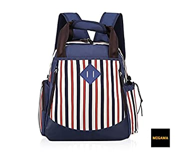 Megama Diaper Bag Multi-Function Backpack Nappy Bags Back Pack with Stroller Straps and Bottle