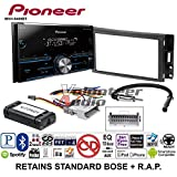 Volunteer Audio Pioneer MVH-S400BT Double Din Radio Install Kit with Bluetooth USB/AUX Fits 2005-2013 Chevrolet Corvette, 2006-2009 Hummer H3 (OE Amplified Systems and Onstar)