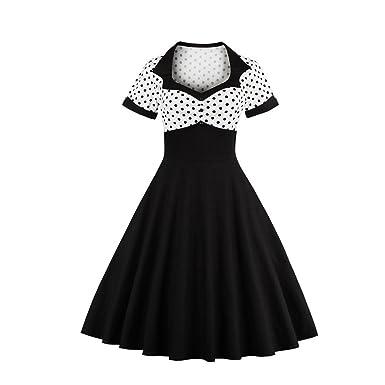 YaoDgFa Damen 50s Retro Kleider Rockabilly Abendkleider Festlich ...