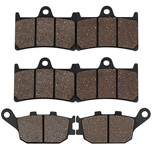 Yzf600 Brake Rear (Cyleto Front and Rear Brake Pads for YAMAHA FZ6 2007 2008 2009 / YZF600 YZF 600 R6 2003 2004)