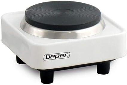 Beper 90.358 Campus 2 Hornillo eléctrico 8cm, 300 W, Acero, Blanco