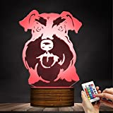 Schnauzer LED Night Light Frenchie 3D Decorative Lighting Color Changing Acrylic Lamp Gift for Dog Lovers