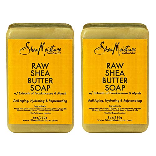 Shea Moisture Raw Butter Bar Soap, 8 Ounce, Pack of 2