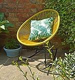 Sue Ryder Yellow Rocking String Moon Chair Garden Furniture