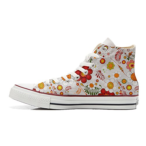 All Handmade Star Producto personalizados Floral Paisley zapatos Converse 6a4wZw