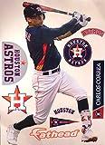 FATHEAD Carlos Correa Houston Astros Logo Set Official MLB Vinyl Wall Graphics 17'' INCH