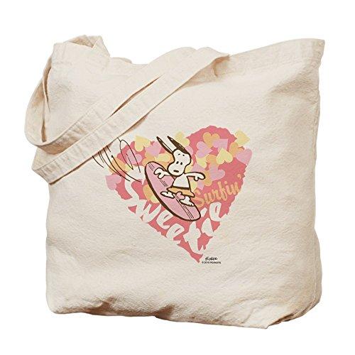 CafePress–Snoopy Surfin Sweetie–Gamuza de bolsa de lona bolsa, bolsa de la compra