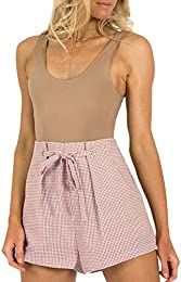 Simplee Women's High Waisted Shorts Summer Casual Shorts