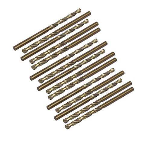 uxcell 3.3mm Drilling Dia HSS Cobalt Metric Spiral Twist Drill Bit Rotary Tool 15pcs ()
