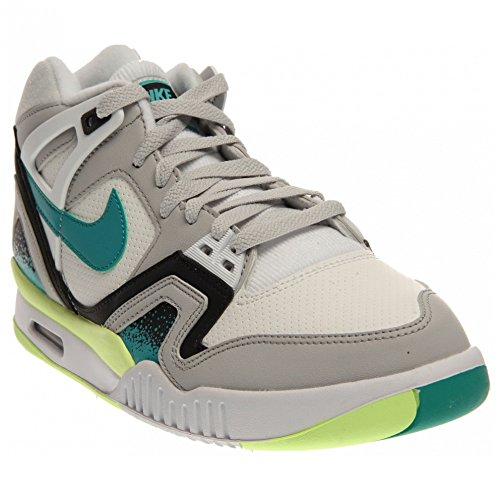 Men's Nike Air Tech Challenge 2 Cross Trainer Shoes - 318408 130, White/Turbo Green-Natural Grey - Size 9.5 D(M) US (Nike Neon Black Sneakers)