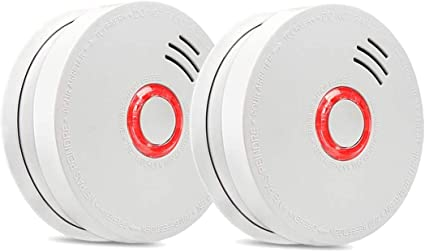 Smoke Detector Fire Alarm 2 Packs Photoelectric Smoke Detectors with UL Listed 9V Battery Operated Smoke Detector 9V Battery Included 10 Years Life Ti at Kapruka Online for specialGifts
