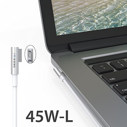MacBook Pro Charger, Replacement of voihome 45W L-Tip MagSafe Power Adapter for Macbook Pro Charger 13-inch (Before Mid 2012 Models) (45W-L) by voihome (Image #1)