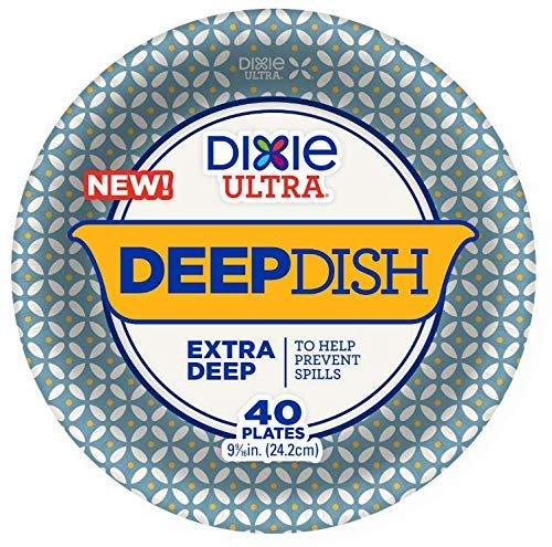 - Dixie Ultra Deep Dish Paper Plates, 40ct pack of 2 (80ct)
