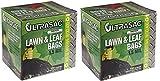 Aluf Plastics 769646 Ultrasac Heavy Duty Professional Quality Lawn and Leaf Trash Bag, 39 Gallon Capacity, 43'' Length x 33'' Width, Black (Case of 100) (2--(Case of 100))