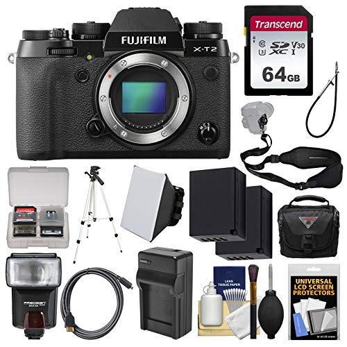 Fujifilm X-T2 4K Wi-Fi Digital Camera Body with 64GB Card +