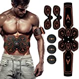 SHENGMI ABS Stimulator Muscle Toner Abdominal Toning Belt Workouts Portable EMS Training Home Office Fitness Equipment for Abdomen/Arm/Leg Training(USB Charging)