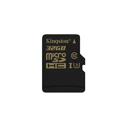 Kingston SDCG/32GBSP Gold Tarjeta de Memoria microSD de 32 GB con UHS-I Speed Class 3 (U3)