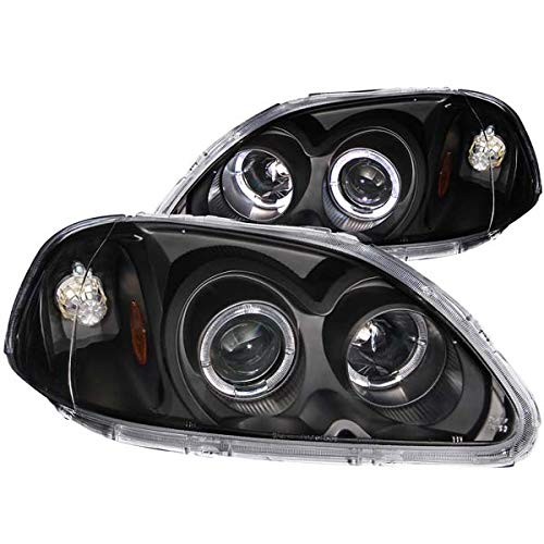 Anzo USA 121068 Honda Civic Projector with Halo Black Headlight Assembly - (Sold in Pairs)