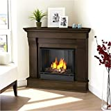 Chateau Corner Gel Fireplace in Espresso