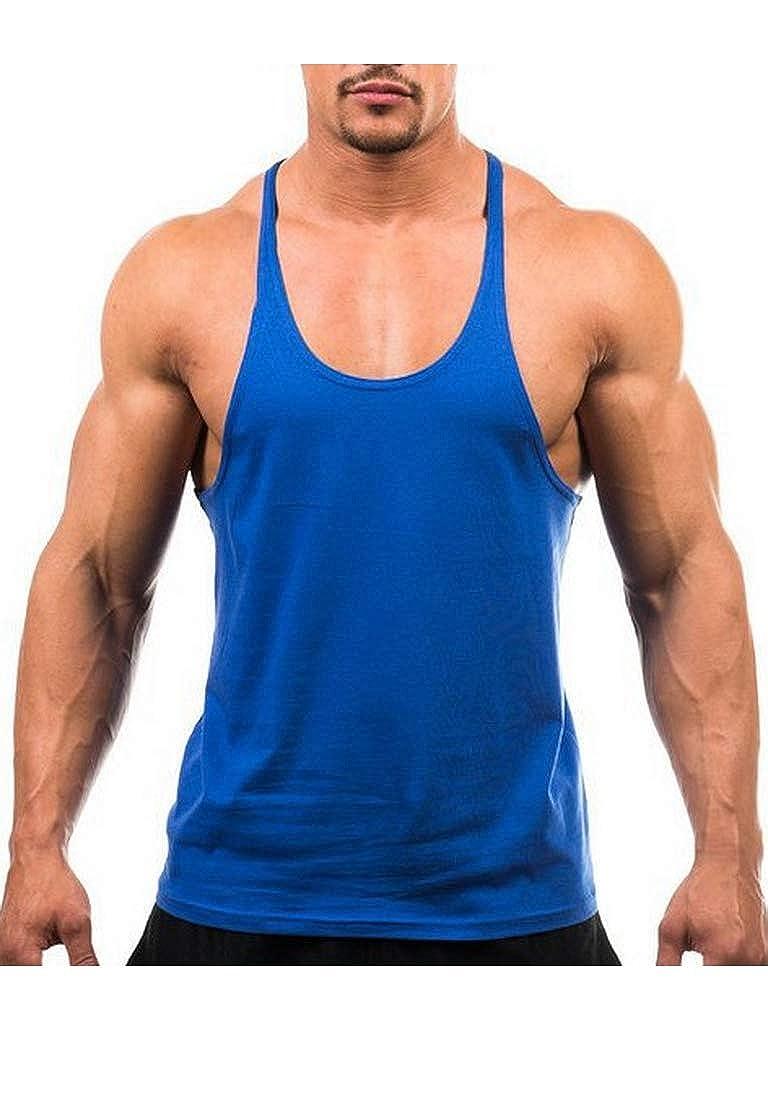 dise/ño Deportivo DEERMEI Camiseta de Tirantes de algod/ón para Hombre