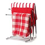Kitchen Bar Countertop Home-X Free Standing Kitchen Towel Rack. Hand Towel Rack. Chrome (Towels Not Included)