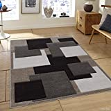 Allstar 5 X 7 Champagne Woven Abstract Block And Square Design Area Rug (5′ 2″ X 7′ 2″)