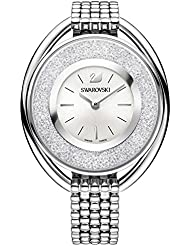 Ladies Swarovski Crystal Crystalline Oval Silver-Tone Bracelet Watch 5181008
