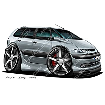 Renault Espace MK4 - Adhesivo para pared (vinilo), color plateado, plata, medium (600mm): Amazon.es: Coche y moto