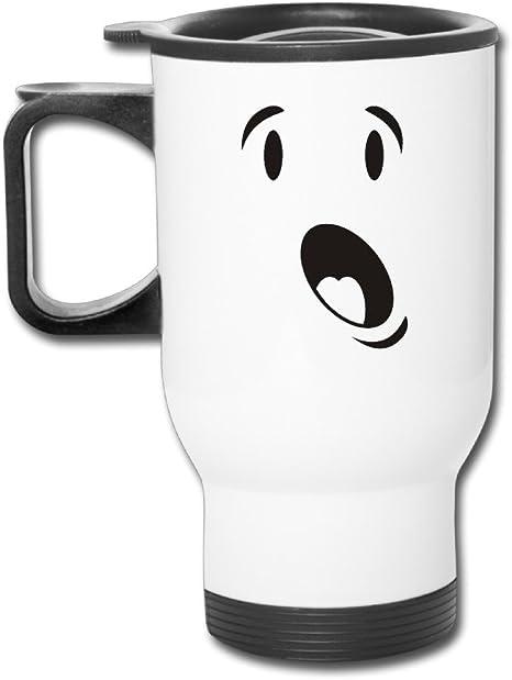 DH & GF sorprendido cara tazas de café taza térmica Cool: Amazon ...