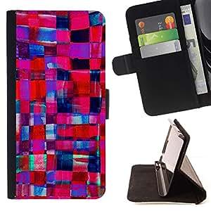 For Apple (4.7 inches!!!) iPhone 6 / 6S Case , Púrpura Azul Femenino Novia- la tarjeta de Crédito Slots PU Funda de cuero Monedero caso cubierta de piel