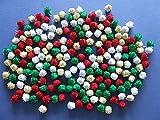 Christmas Tinsel Pom Pom - 7mm - 200 pieces - Big Value