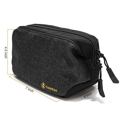tomtoc Laptop Accessory Pouch Bag Organizer, Electronics Gadgets Speaker Camera Storage Case, Waterproof Travel Toiletry Bag and Makeup Cosmetics Bag, Healthcare Kit for Men and Women by Tomtoc (Image #2)
