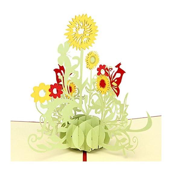 Wivily sunflower handmade 3d pop up christmas cards birthday cards prev m4hsunfo