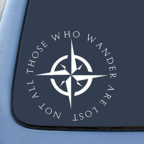 Not All Those Who Wander Are Lost Notebook Car Laptop Decal Sticker made our list of Inspirational And Funny Camping Quotes