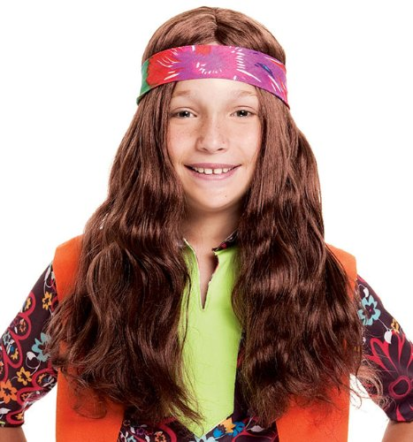 Long Hippie Child Wig with Bandana by PMG