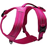 Creation Core Reflective No-pull Dog Harness with Padded Handle Breathable Durable Pet Vest Front and Rear Leash Hookup, Pink XL