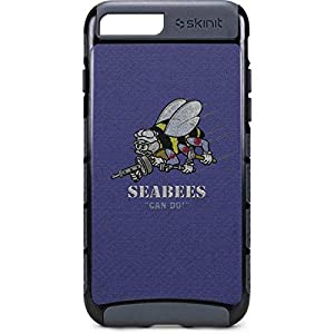 Skinit US Navy iPhone 8 Plus Cargo Case - Seabees Can Do Design - Durable Double Layer Phone Cover from Skinit