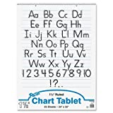 Wholesale Case of 12 - Pacon Ruled Manuscript Chart Tablets-Chart Tablet,Manuscript Cvr,1-1/2'' Ruled,24''x32'',25Sh,12/CT