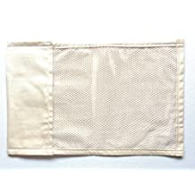 """Air Chilled Pillow Insert, Electronically Generated Cold Air To Cool Your Pillow, 17""""x11"""" Tan Canvas, 2 Pocket, Machine Cold, Washable, Dryer Safe, Tumble Dry Low."""